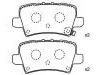 Pastillas de freno Brake Pad Set:43022-SMG-E01